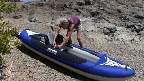 Easily converts to solo paddling.