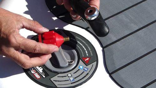 Optional Schrader valve adaptor