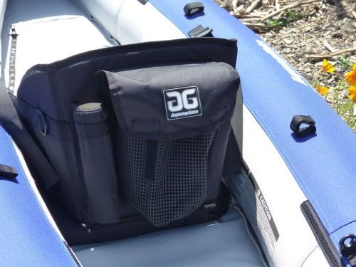 Seat back with fishing rod holders