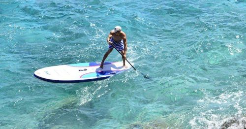 Mistral Adventure 11-6 Inflatable SUP on the water