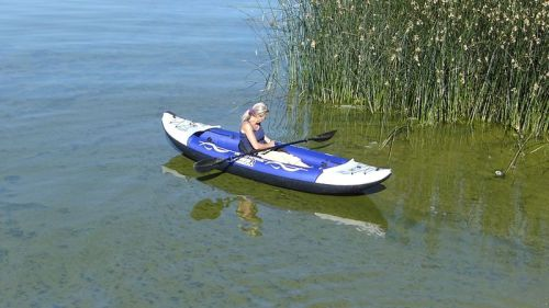 Island Voyage II inflatable kayak from Advanced Elements - on the water.