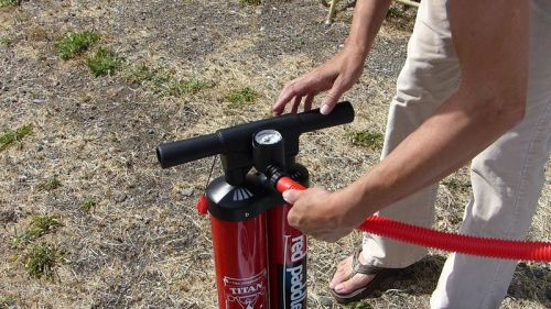 Attach the hose to the pump