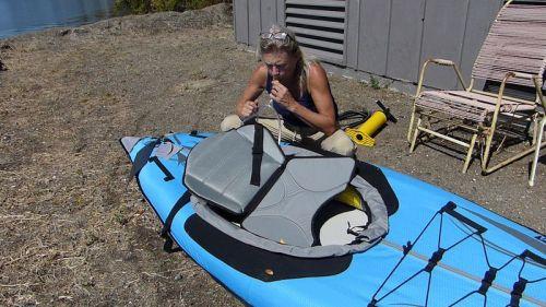 Inflating the lumbar seat