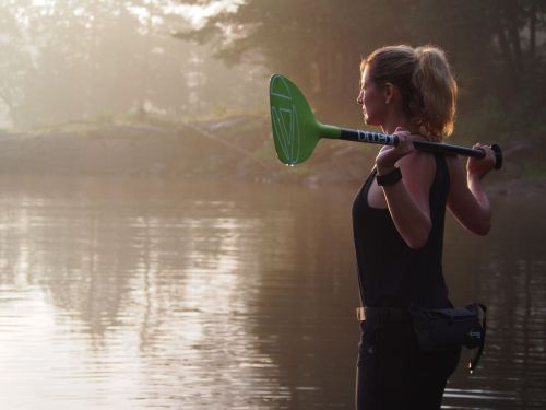 Nikki Gregg with Accent's Indy Tour 780 SUP Paddle