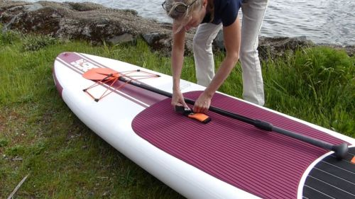 Attach the paddle to the board