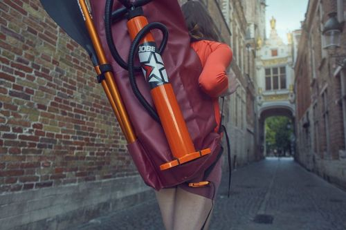 Included backpack with paddle and pump