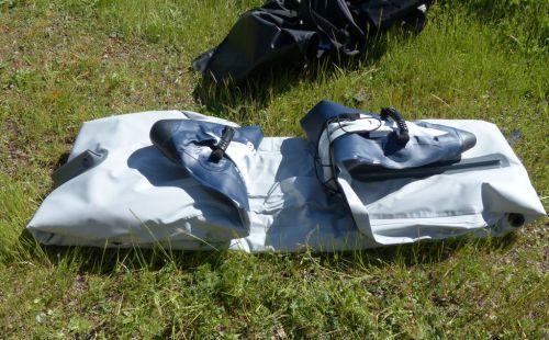 Folding the kayak
