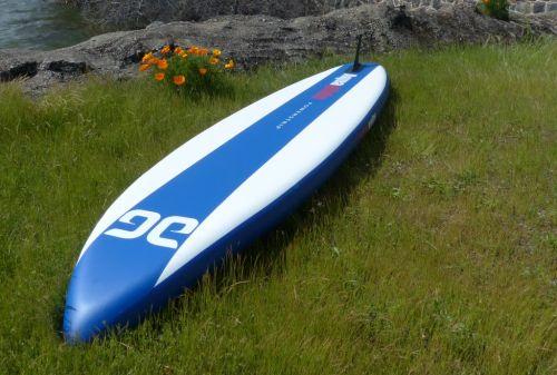 Underside of paddle board