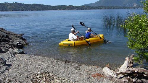 Kokopelli Twain Inflatable Packraft, paddled tandem