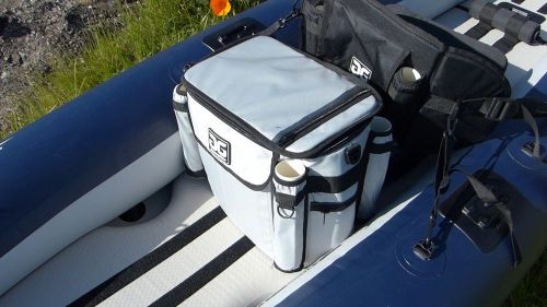Included fishing cooler.