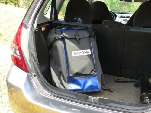 Easily fits in the trunk of a car.