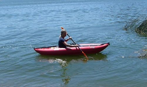 Twist LN Inflatable Kayak on the water