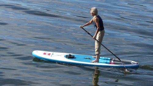 Red Paddle Co Ride 10'6 Inflatable SUP with MSL Technology - On the water