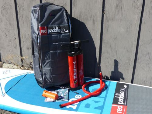 What's in the Red Paddle Ride 10'6 Box