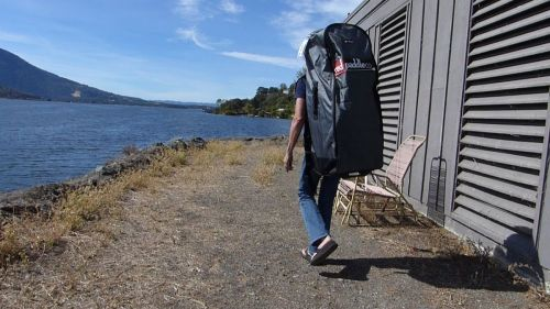 Red Paddle Co roller backpack