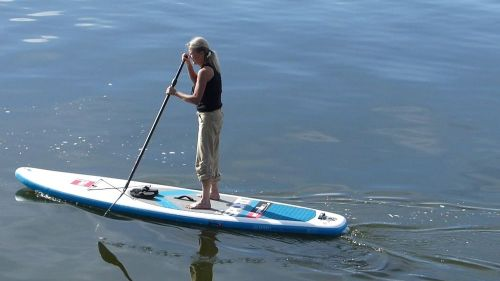 """Red Paddle Co Sport 11'3"""" on the water."""