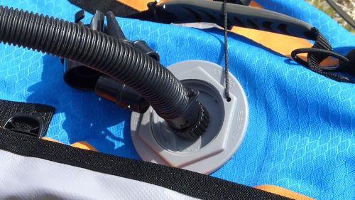 Attach the hose to the valve