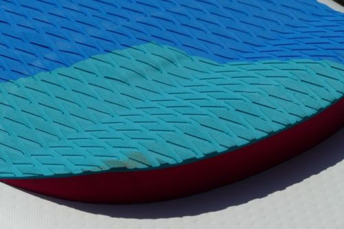 Rear raised stomp pad