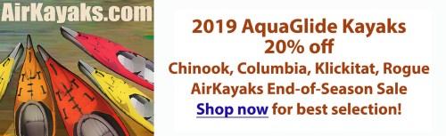20% off select 2019 AquaGlide Kayaks at Airkayaks.com