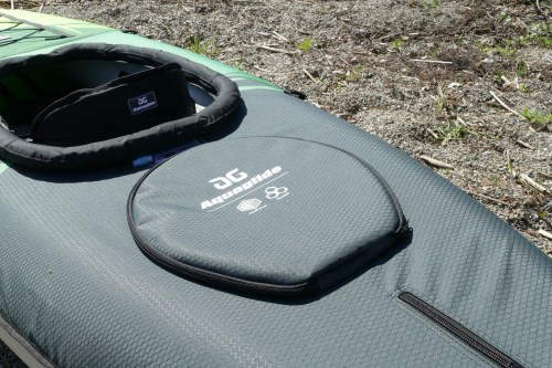 Zippered hatch cover