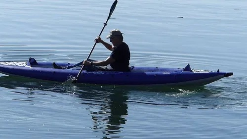 Chelan 155 Inflatable Kayak on the water