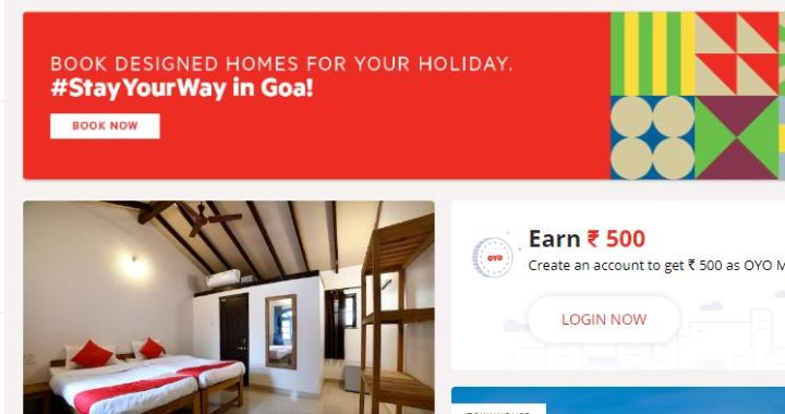 GOA GOVT HAS NO RECORDS, PERTAINING TO GOAN HOTELS REGISTERED WITH OYO ROOMS: GOA TOURISM MINISTRY