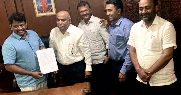 BABU, PAUSKAR TO BE SWORN-IN AS DY CM & MINISTER TONIGHT. SUDIN TO CONTEST AGAINST BJP IN SOUTH GOA