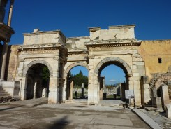 Mazaeus and Mithridates Gate to the agora (marketplace), Ephesus. Built by two former slaves in honor of the emperor who freed them.