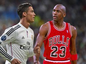 Cristiano Ronaldo Basketball Star Michael Jordan