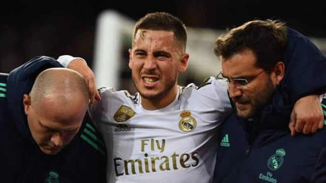 Eden Hazard has suffered many injuries since joining Real Madrid