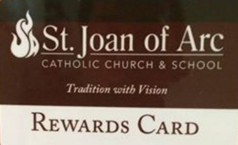 Fund Raiser Card for St Joan of Arc School in Lisle IL