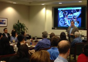 Speaking at Lunch-N-Learn about social media