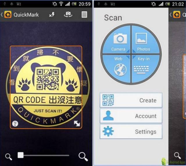 QuickMark Barcode Scanner App