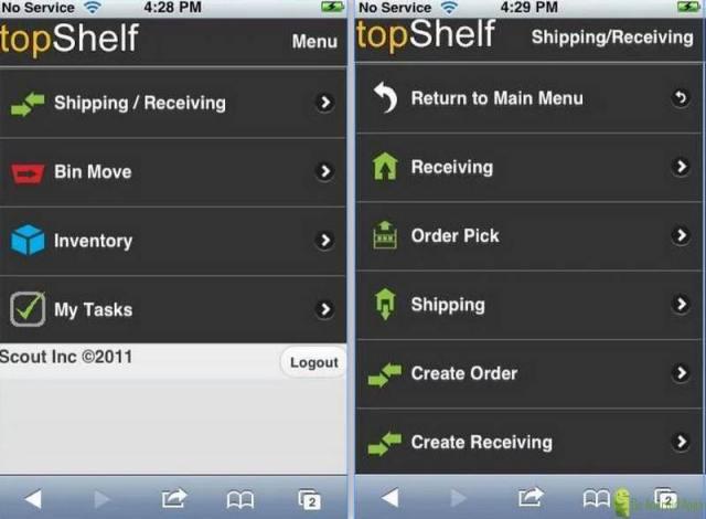 topShelf Mobile Inventory App