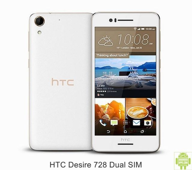 HTC Desire 728 Dual SIM Mobile White