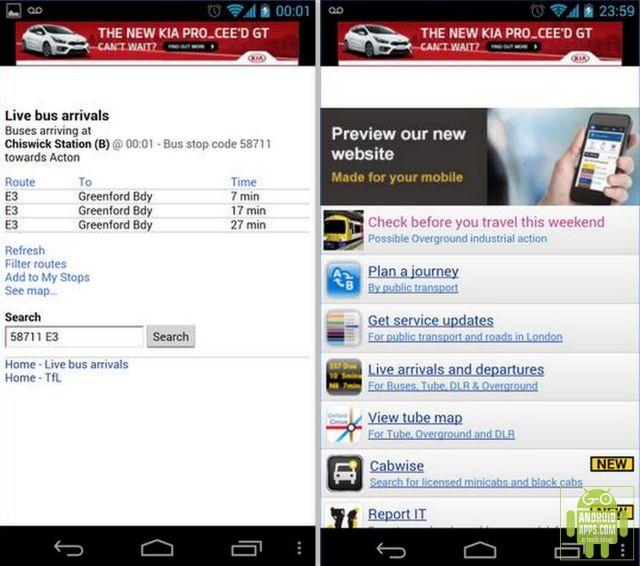 London Bus Arrival Time App