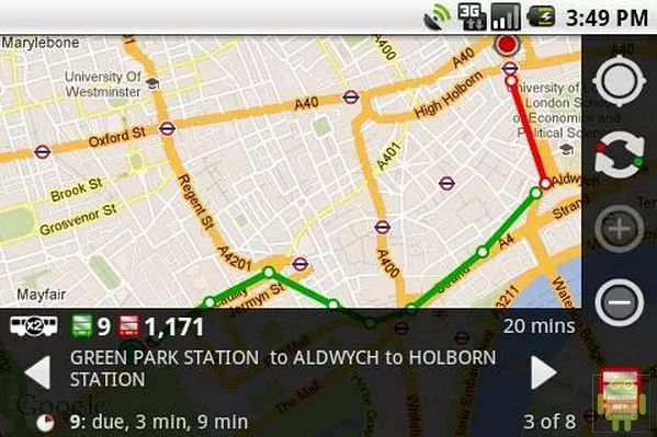 London Bus Traveller App