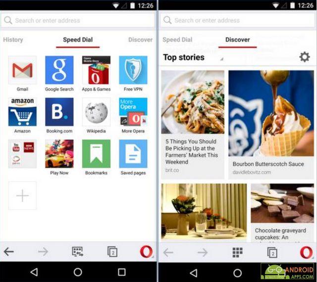 Opera browser app