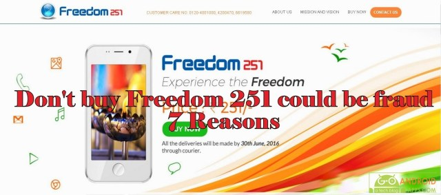 Don't buy Freedom 251 could be fraud