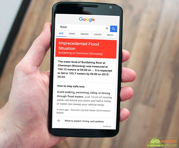 Google has activated a public alert system to give flood information across 170 areas in India