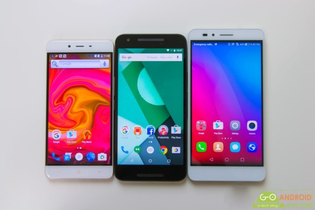 Huawei Honor 5X vs Nexus 5X vs OnePlus X Image