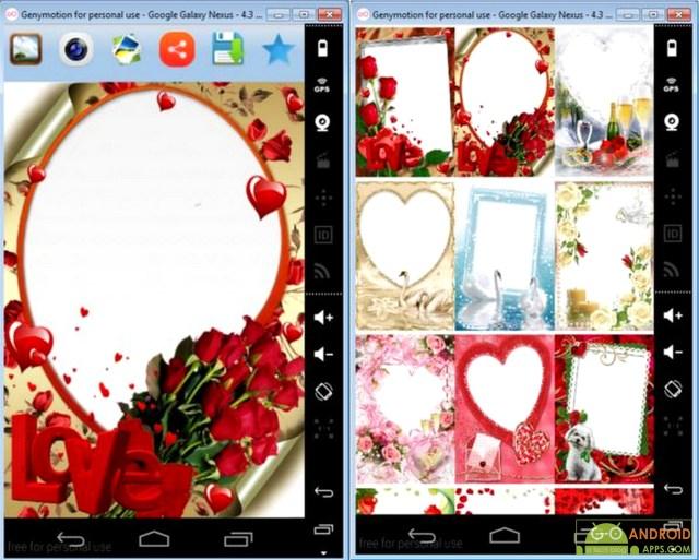 Valentine's Day Photo Frames App