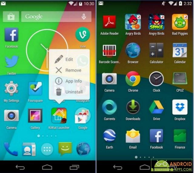 KitKat Launcher App, Android Launchers