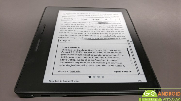 Amazon Kindle Oasis Design