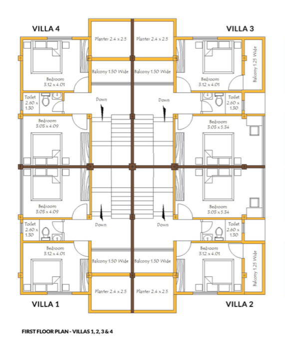 4bhk first floor plan
