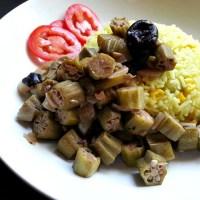 Cooked Okra - Goan Ladyfingers Recipe