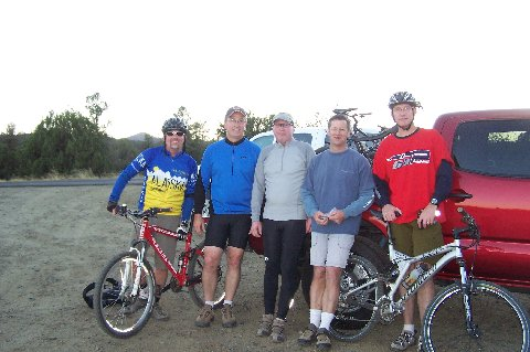 After the ride Steve, Michael, Hal, Ken and me.