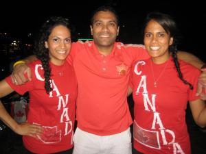 Tara, Wayne, Jojo - Goa Reds Field Hockey Club