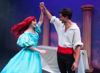 Sarah Kelly as Ariel and Chet R. Davino as Eric Photo courtesy of Zoe Bradford/Company Theatre