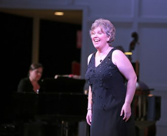 Singers revel in the outdoor stage during Evening Under the Stars summer season, Photo courtesy of South Shore Conservatory